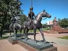 Памятник М.а. Шолохову, Волжский бульвар на фото Москвы