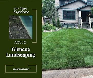 glencoe landscaping, snow removal, concrete paving and landscape design