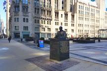 Jack Brickhouse Statue, Chicago, United States