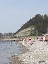 Пляж в Лазаревському