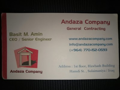 Andaza Company, As-Sulaymaniyah, Iraq | Phone: +964 53 320 3789
