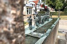 Brunnen Warnminner Umgang, Warnemunde, Germany