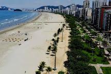 Orla e Jardins da Praia de Santos, Santos, Brazil