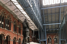 The Meeting Place Statue, St. Pancras Station, London, United Kingdom