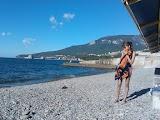 Дикий пляж в Артеке