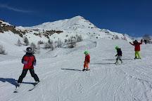 Family Skiing, Zermatt, Switzerland
