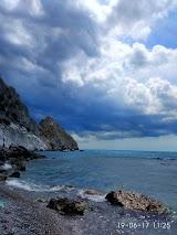 Пляж санатория Юность в Голубом Заливе