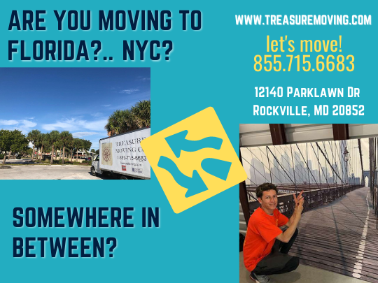 Rockville Maryland Long Distance Out of State Moving Company to Florida NYC East Coast