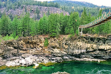 Kootenai Falls Swinging Bridge, Libby, United States