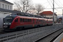 Celje Railway Station with Plane Tree, Celje, Slovenia