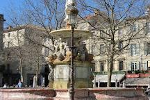 Fountain of Neptune, Carcassonne Center, France