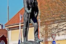 Statue of Andras Jelky, Baja, Hungary