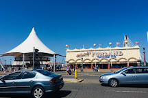 Southport Pier and pavilion cafe, Southport, United Kingdom