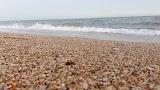 Пляж Нимфей на Аршинцевской косе рядом с Керчью