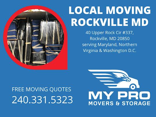 MyProMovers Rockville 40 Upper Rock Cir #337, Rockville, MD 20850 240-331-5323