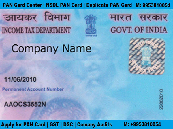 PAN Card Registration in Ghonda | Download Form Correction Lost Name New  Consultants NRI UTI NSDL
