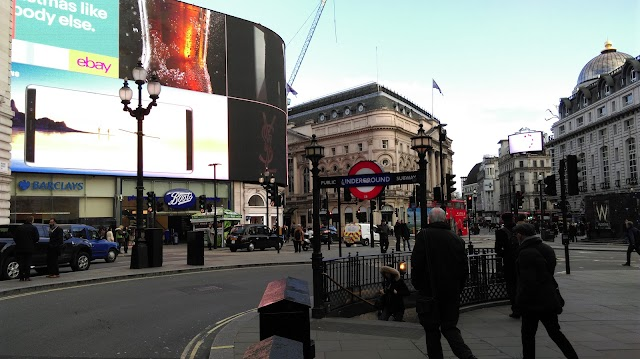 Piccadilly Circus Advertising Bellboard Lights