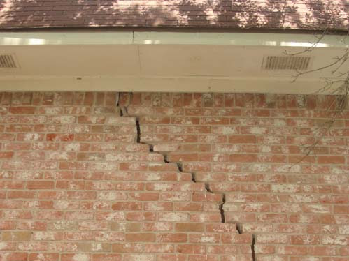 Soil movement causes foundation damage and damages throughout the house.