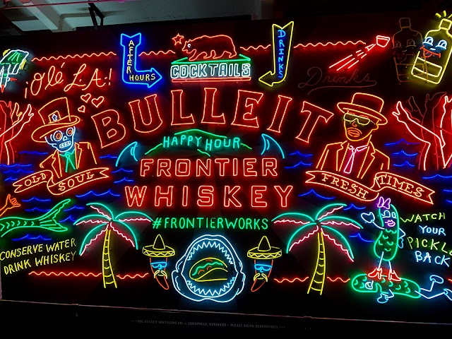 Bulleit Whiskey Frontier Works Neon Sign