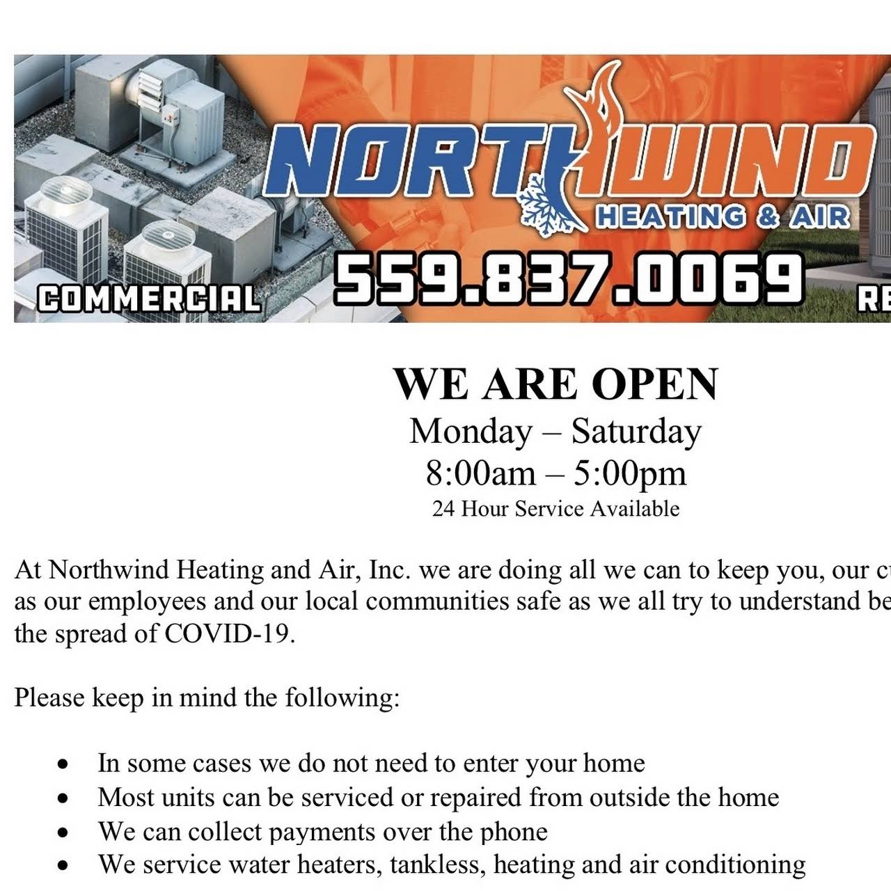 Northwind Heating And Air Heating And Air Conditioning Contractor