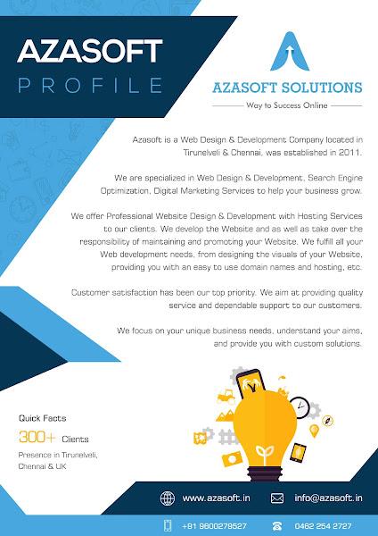 Azasoft Solutions Web Designing Company Tirunelveli