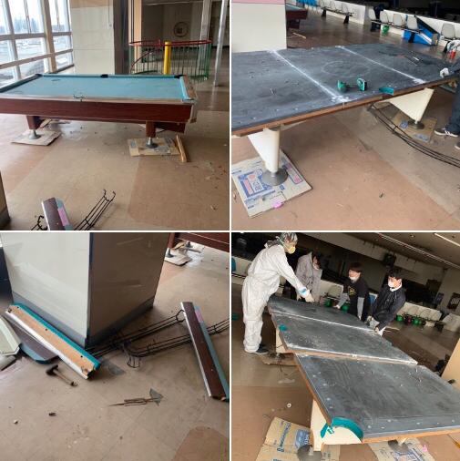 秋田市ビリヤード台🎱解体