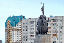 Monument to the Founders of the City of Surgut, Surgut, Russia