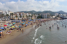 Playa de Sant Sebastia, Sitges, Spain