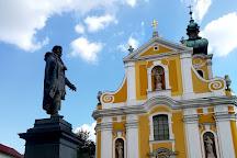 Statue of Kisfaludi Karoly, Gyor, Hungary