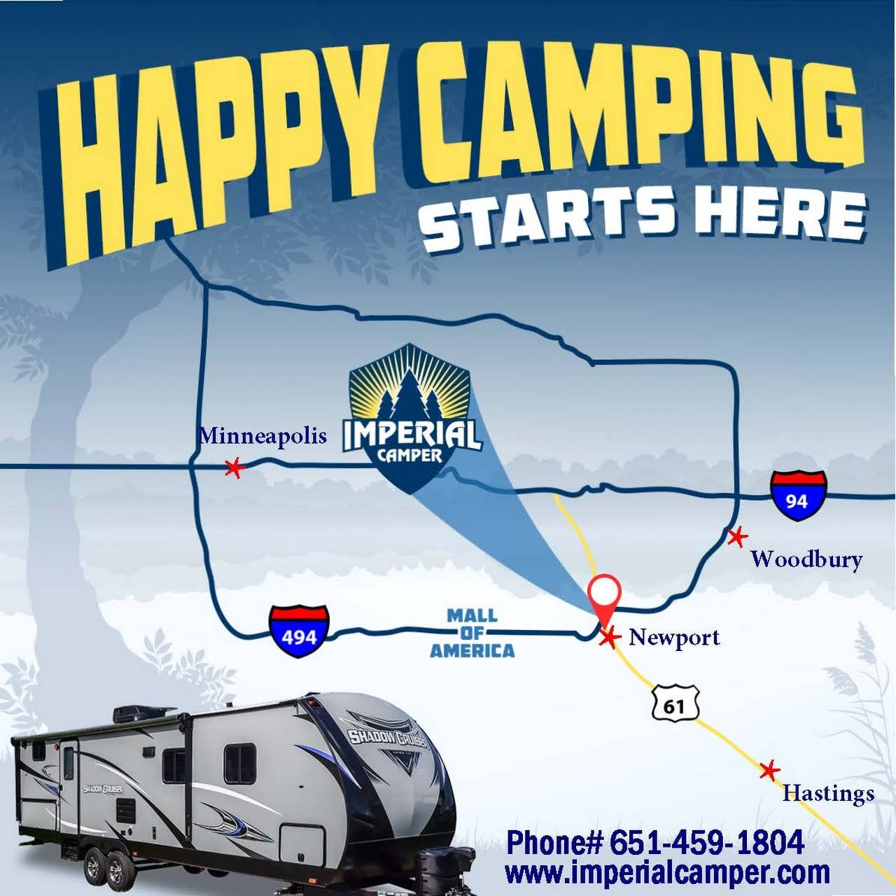 Imperial Camper Your Full Service Family Owned Rv Dealership And Service Center Located Just East Of Mall Of America 5 Minutes South West Of Woodbury