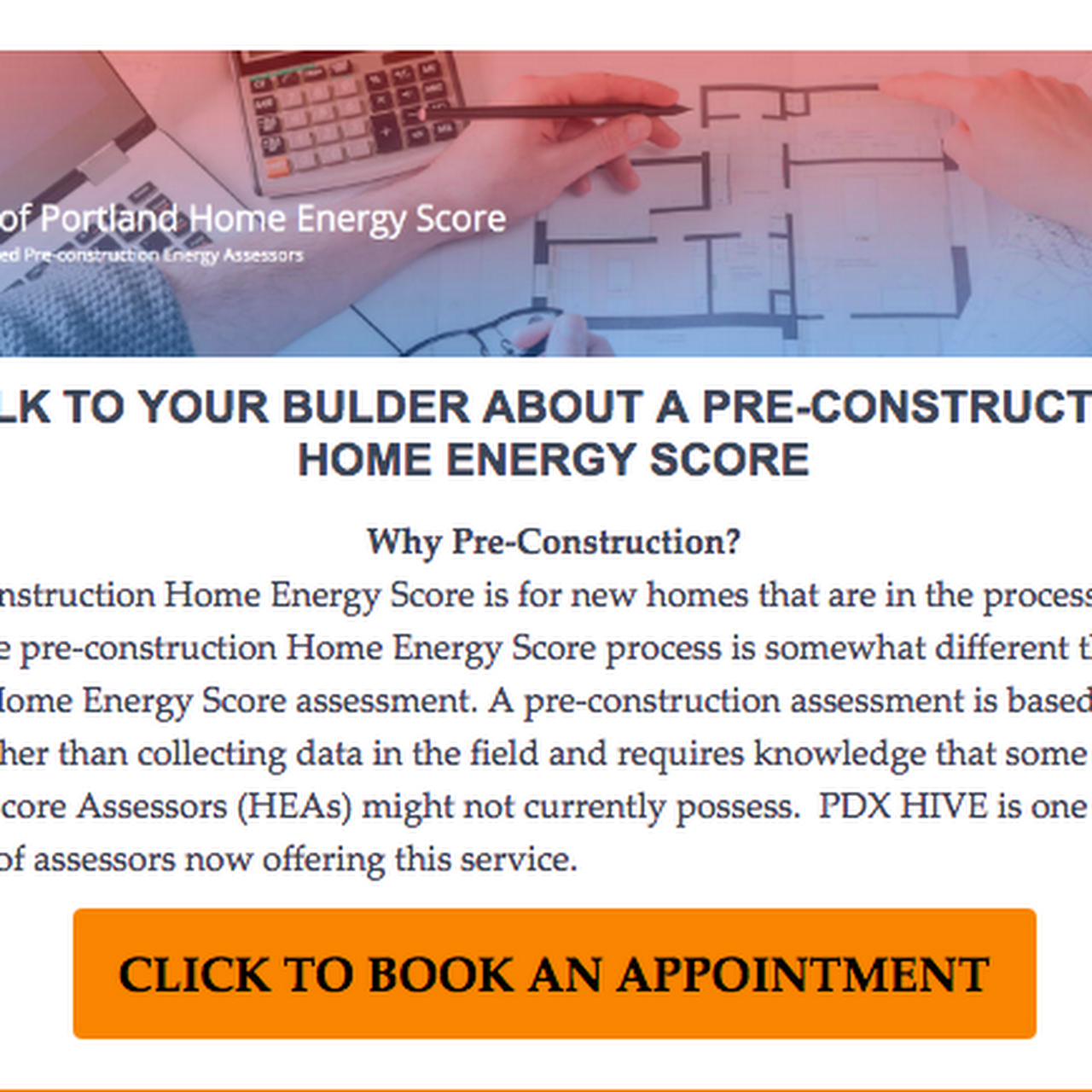 Pdx Hive Home Energy Scores And Home Inspections In Portland Or
