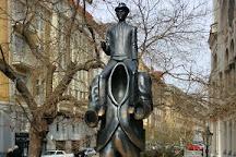 Franz Kafka statue, Prague, Czech Republic