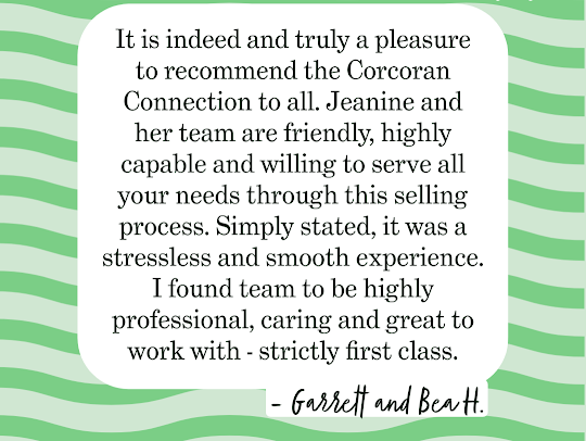 Testimonial For Real Estate Agency: The Corcoran Connection