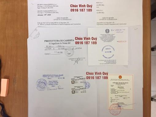 Chứng nhận lãnh sự Đại sứ quán Italy ở hà Nội