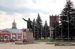 Памятник В.И. Ленину, улица Мира, дом 115 на фото Ельца