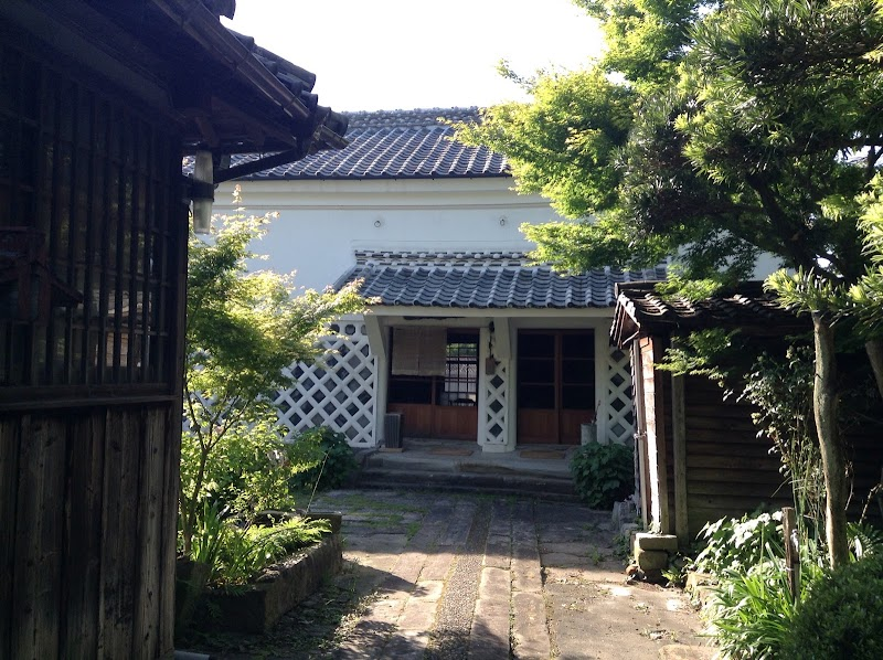 traditional Japanese garden house