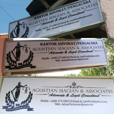 Law Office AGUSTIAN SIAGIAN & ASSOCIATES 'Advocate & Legal Consultant'