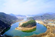 Korean Peninsula-shaped Cliffs (Seonam Village), Yeongwol-gun, South Korea