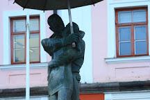 The Kissing Students fountain, Tartu, Estonia