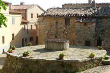 Piazza della Cisterna, Rocca d'Orcia, Italy