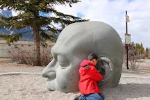 Big Head Sculpture, Canmore, Canada