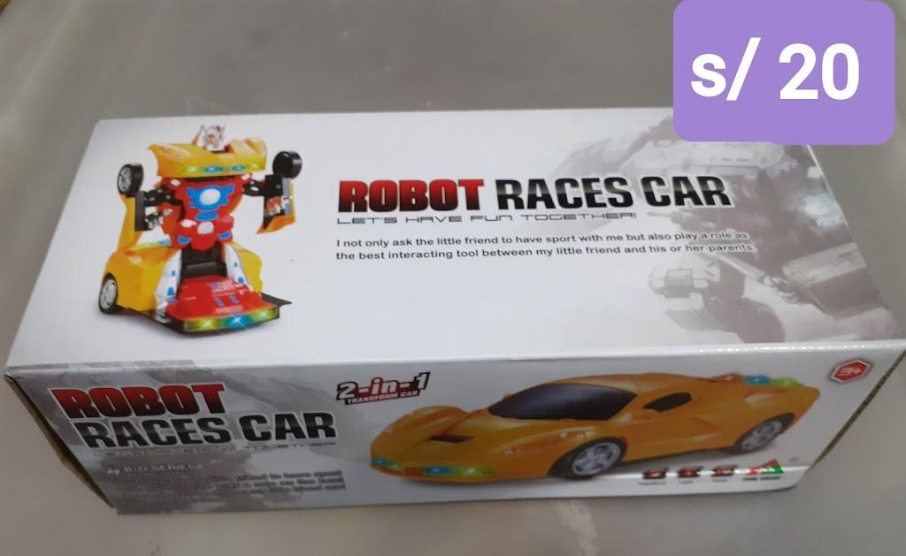 Robot carro de carrera