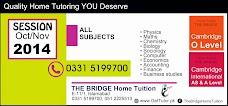 THE BRIDGE Home Tuition, Islamabad