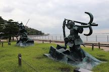 The Site of Dannoura Battlefield, Shimonoseki, Japan