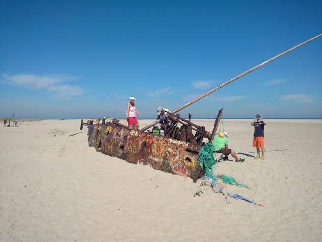 Norderney - Das Wrack am Ostende