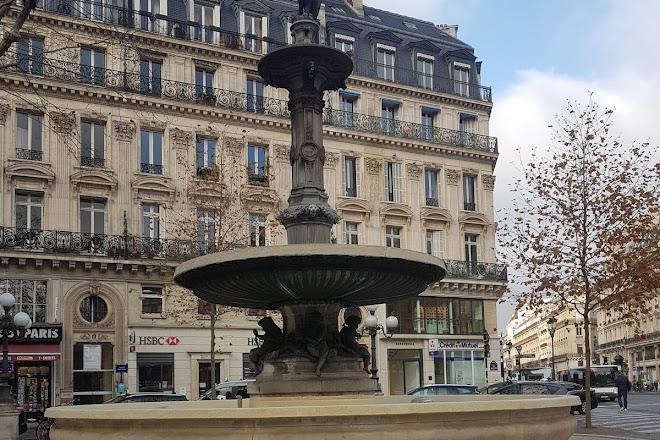 Fontaines du Theatre Francais - Nymphe Marine et Nymphe Fluviale, Paris, France