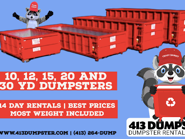 Dumpster Rental in Springfield MA - 413 Dumpster Rental