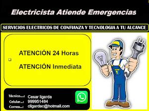 Electricista atiende emergencias Ligarda 1