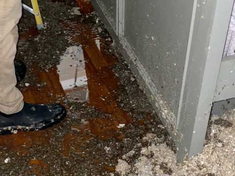 Damage to Home from Burst Water Pipe