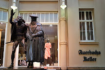Statue of Mephisto and Faust, Leipzig, Germany